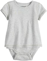 Baby Girl Jumping Beans Adaptive Short-Sleeve Mock-Layer Bodysuit