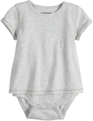 Baby Girl Jumping Beans Adaptive Short-Sleeve Mock-Layer Bodysuit