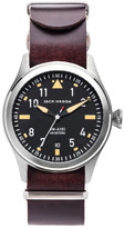 Jack Mason Brand Men&s Brand Aviator Italian Leather Strap 42mm Watch