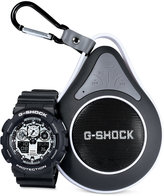 G-Shock Men's Analog-Digital Black Resin Strap Watch with Bluetooth Waterproof Speaker Gift Set 55x51mm GA100BW-1ABT, a Macy's Exclusive