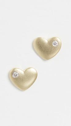 Meira T 14k Heart Earrings