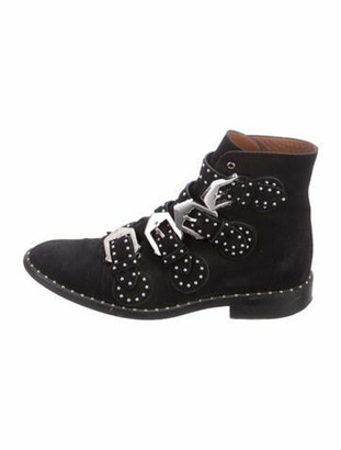 Givenchy Elegant Suede Ankle Boots Black