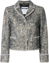 Moschino cropped stitched jacket