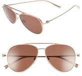 Salvatore Ferragamo Men's 57Mm Aviator Sunglasses - Satin Gold