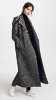 Katya Dobryakova Birds Long Wool Coat