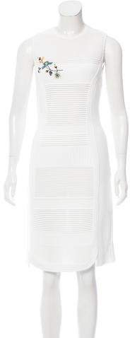 Christian Dior Intarsia Knit Embroidered Dress