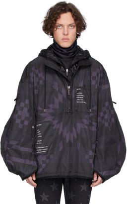 TAKAHIROMIYASHITA TheSoloist. Black and Purple Balloon Sleeve Trek Jacket