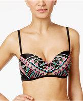 Coco Rave Peek-A-Boo Printed Underwire Bikini Top