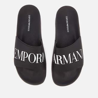 Emporio Armani Men's Zadar Slide Sandals - Black/White