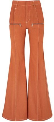 Chloé Zip-detailed High-rise Flared Jeans