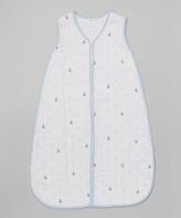 Hudson Baby Blue Anchor Muslin Sleeping Sack