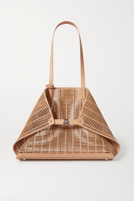 Akris Ai Large Laser-cut Leather Tote - Beige