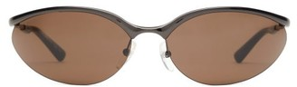 Balenciaga Fire Oval Metal Sunglasses - Mens - Black