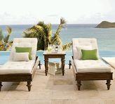 Bali Rustic Teak Single Chaise & Cushion