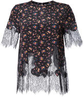 McQ by Alexander McQueen lace panel blouse - women - Silk - 38