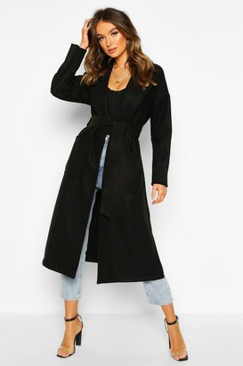 boohoo Oversized dressing gown Belted Coat