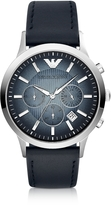 Emporio Armani Chronograph Leather Band Men's Watch
