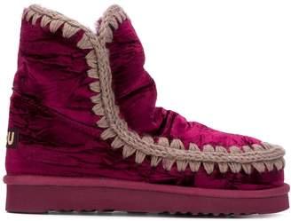 Mou Eskimo velvet ankle boots
