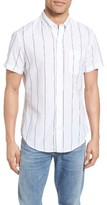 Bonobos Men's Slim Fit Short Sleeve Stripe Sport Shirt