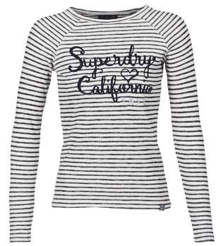 Superdry BLOSSOM RAGLAN APPLIQUE TOP women's Long Sleeve T-shirt in White