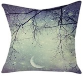 "DENY Designs Shannon Clark Diamonds In The Sky Throw Pillow - Grey (20"" x 20"