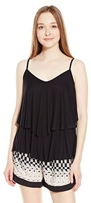 Rachel Pally Women's Rib Ruffle Top