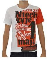 Comme des Garcons Mens Orange/white Cotton T-shirt.