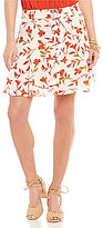 Lovers + Friends Fountain Printed Button Front Skirt