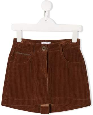 Brunello Cucinelli Kids corduroy mini skirt