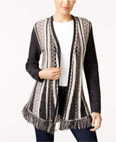 Style&Co. Style & Co Fringe-Trim Cardigan, Created for Macy's