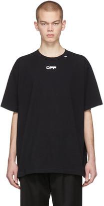 Off-White Black Wavy Line Logo T-Shirt