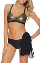 Luxe by Lisa Vogel Bikini Top and Mesh Cover-Up Set