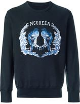 Alexander McQueen brid embroidered sweatshirt - men - Cotton - XS