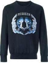 Alexander McQueen brid embroidered sweatshirt