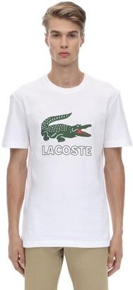 Lacoste Crocodile Printed Cotton Jersey T-shirt