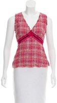 Ungaro Sleeveless Bouclé Top