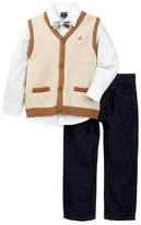 Nautica Vest, Shirt with Bow Tie, & Jean Set (Toddler Boys)