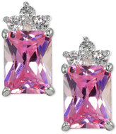 Giani Bernini Pink Cubic Zirconia Square Stud Earrings in Sterling Silver, Only at Macy's
