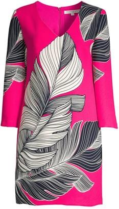 Trina Turk Journey Leaf Print Dress