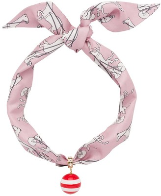Miu Miu Colour Mix Jewels scarf necklace