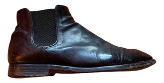 Alberto Fasciani Black Leather Boots