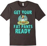 Women's Get Your Fat Pants Ready Thanksgiving Turkey Dinner T-Shirt Medium