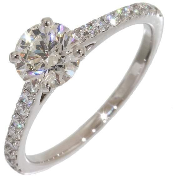 De Beers Platinum with Diamond Ring Size 5