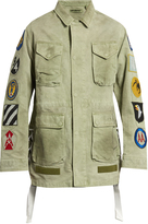 Off-White Patches-appliqué cotton field jacket