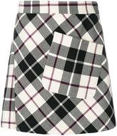 Etro checked mini skirt
