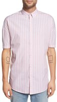 Zanerobe 'Stripe Rugger' Oversize Short Sleeve Woven Shirt