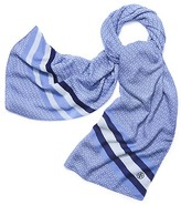 Tory Burch Gemini Link Striped Oblong Scarf