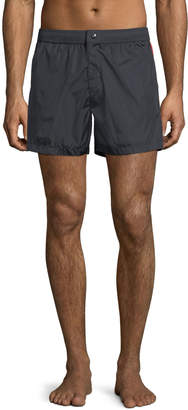 Moncler Swim Trunks w/ Logo Taping Sides, Navy