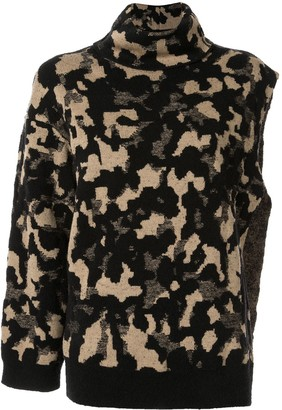 Ports 1961 camouflage one sleeve sweater