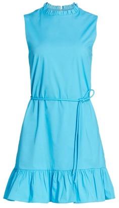 STAUD Carolina Frill Mini Dress
